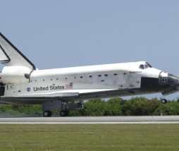 US space shuttle Endeavour touches down