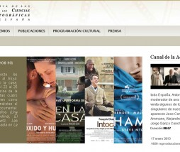 Premios Goya website